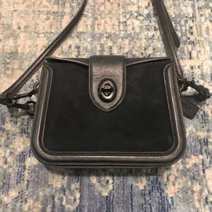 COACH Genuine Leather and Suede Crossbody
